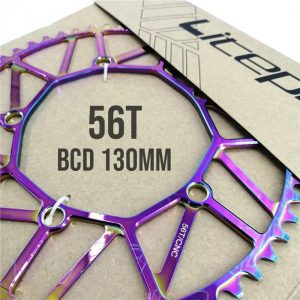 Chainring Litepro 56T Hollow BCD 130mm - Titanium Rainbow 3